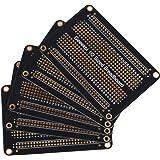 GeeekPi Förpackning med 5 st Proto Breadboard PCB-bräda guldpläterad experimentell brödbräda dubbelsidig PCB DIY-kit för Ardu