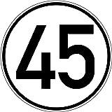 45 Kmh Aufkleber Auto Lkw Trecker Anhänger Schlepper 20 Cm Rund Wetterfest 1 Stück Bürobedarf Schreibwaren
