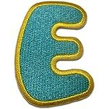 Alphabet/Lettre bleu Patch - Ecusson thermocollant patches appliques, Taille: 0 x 0 cm, Alphabet/Buchstabe:Buchstabe E - 6.2x