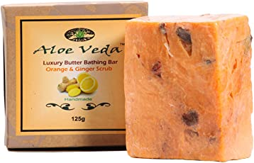 Aloe Veda Luxury Butter Bar - Orange and Ginger, 125g