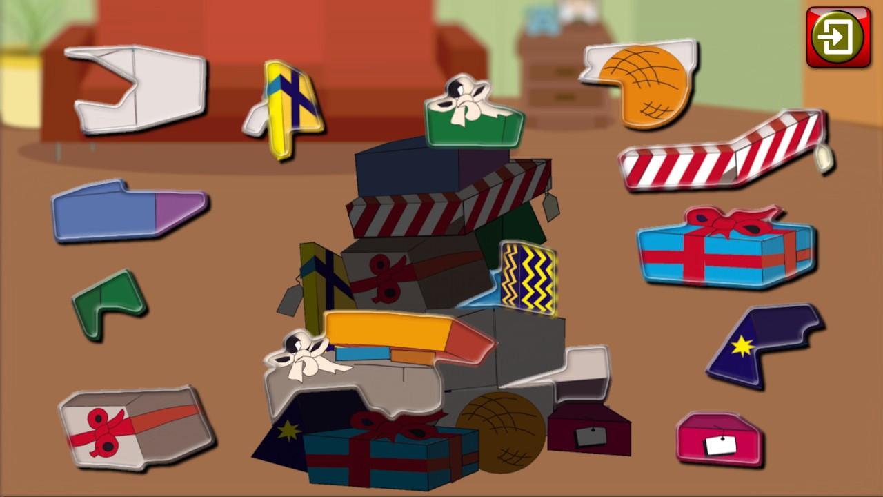 kinder weihnachten jigsaw puzzle formen lernspiel f r. Black Bedroom Furniture Sets. Home Design Ideas