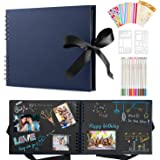 Album Photo Scrapbooking,Albums Photos Personnalisable,80 Pages Scrapbooking Livre Kit Avec 12 Stylos Métalliques,Albums Phot