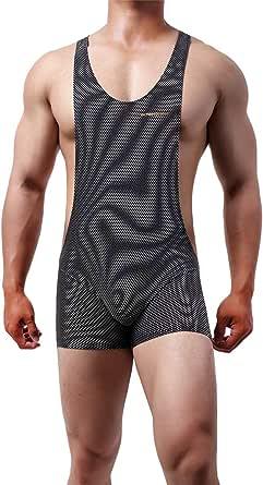YOOBNG Stretch Men's Sexy Bodysuit Colorful Jockstrap Bodywear Underwear Singlet Leotard Jumpsuits Suspender