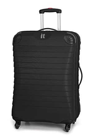 IT Luggage Palermo Black Expandable Corner Protector 53.5cm Cabin ...