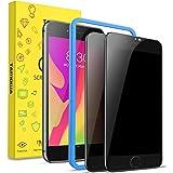 TAMOWA Sekretess skärmskydd för iPhone SE 2020/iPhone 8/iPhone 7, 2-pack, 3D premium härdat glas anti-spion skyddsfilm, med i
