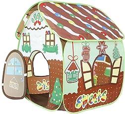 Homfu Tenda Casetta per Bambini e Bambine per Campeggio Esterno Tenda Giocattolo per Bambini con Design Popup