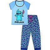 Disney Lilo and Stitch Relax Light Blue Long Ladies Pyjamas