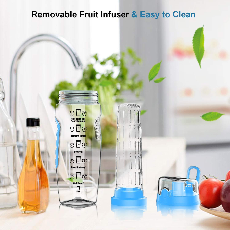 Balhvit-Motivational-Water-Bottle-Leakproof-Sports-Water-Bottle-BPA-Free-Tritan-Plastic-Fruit-Infuser-Water-Bottles-with-Time-Markings-Safe-Lock-Design-Shatter-Resistant-Drinks-Bottle