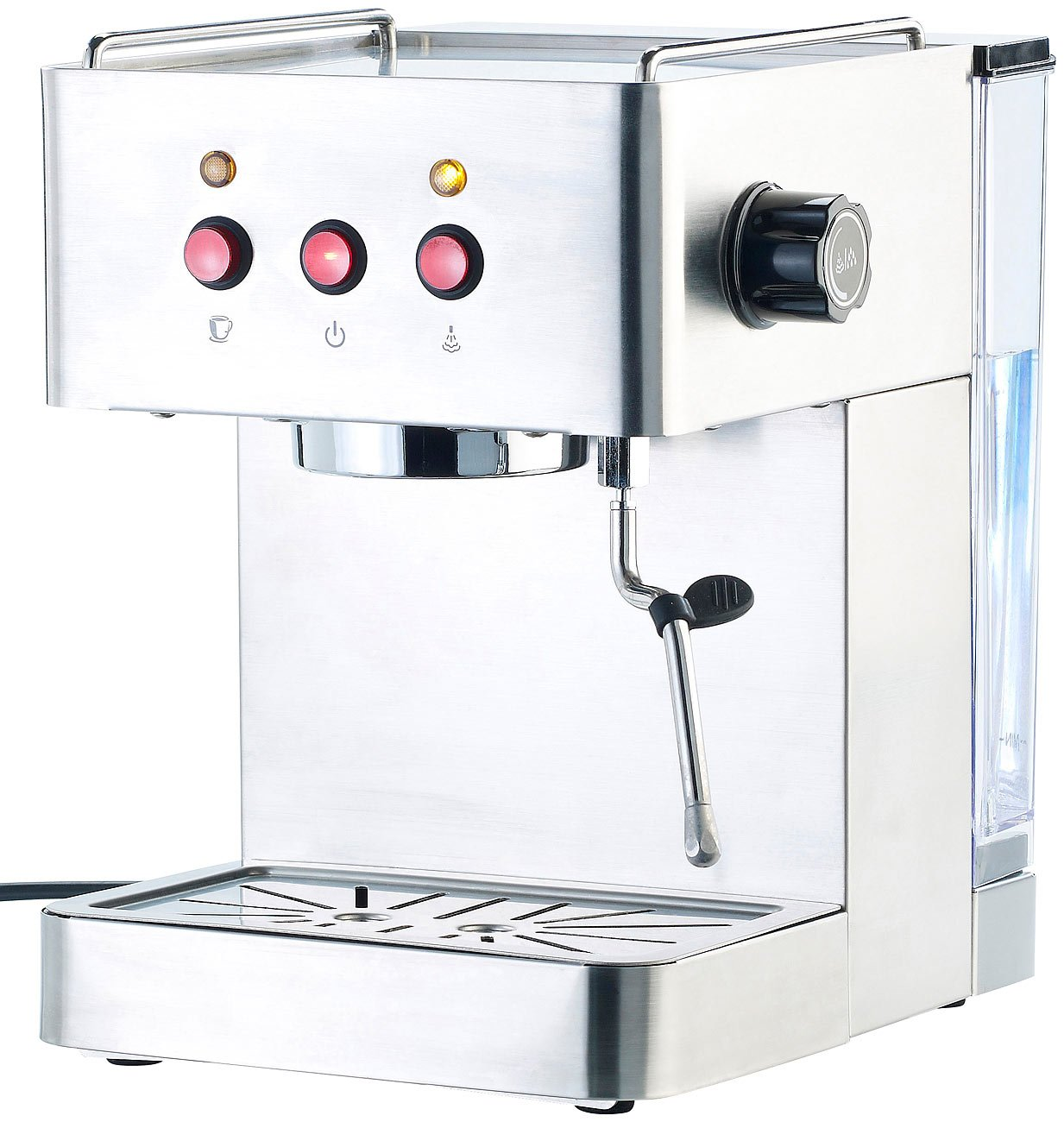 Cucina-di-Modena-Kaffeemaschinen-Siebtrger-Espressomaschine-ES-1300-mit-Milchschumer-Siebtrger-Espresso-Maschinen