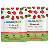 Mamaearth Hyaluronic Bamboo Sheet Mask - Pack of 2 (25 g * 2)