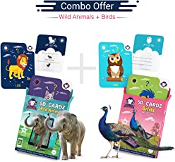 RedChimpz Wild Animals and Birds Playing Card Game (Augmented and Virtual Reality Based Educational Toy) for Age 3-10 Years-Set of 2