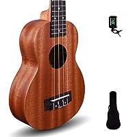 "Kadence Wanderer Series Brown Mahogany wood Ukulele with Bag and Tuner (Wanderer 21"", Acoustic)"