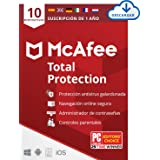 McAfee Total Protection 2021, 10 Dispositivos, 1 Año, Software Antivirus, Seguridad de Internet, Móvil, Control Parental, Com
