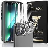 TAURI [3+3 Pack Compatibel met iPhone 13 Pro, 3 Pack Camera Lens Protector + 3 Pack Gehard Glas Screen Protector met Uitlijni