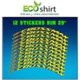 Ecoshirt 8B-XT8E-M41I Stickers Rim Mavic Crosstrail Bike 27.5 Am58 MTB Downhill Orange 26