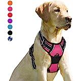 BARKBAY Harnais pour chien avec clip avant résistant réfléchissant et poignée de contrôle facile pour promener un chien de gr