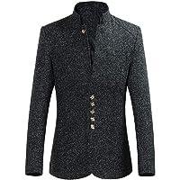 Pingtr Men's Blazers Jacket Classic Chinese Tunic Suit Business Blazers Italian Designer Vintage Suit Coat Smart Formal…