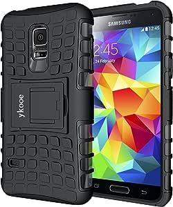ykooe Galaxy S5 Mini Hülle, (TPU Series) S5 Mini Dual Layer Hybrid Handyhülle Drop Resistance Handys Schutz Hülle mit Ständer für Samsung Galaxy S5 Mini