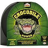 Pattex Crocodile Power Plakband, sterke weefseltape met dubbele dikte, extreme weerstand voor de moeilijkste reparaties, Duct