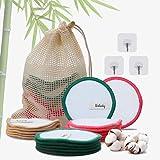 Dischetti Struccanti Lavabili Bambù Velluto Wolady 16 Dischetti Struccanti Riutilizzabili Bamboo Cotone Velluto Ecologico Sal