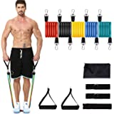 YICAI Exercise Resistance Bands Set Stackable up to 100 lbs Workout Resistance Tubes For Outdoor and Intdoor Sports Weight Li