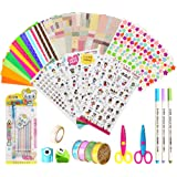 KANOSON Scrapbooking Kit 43 Pièces, Accessoires Album Photo, Accessoires pour Agenda Livre(Autocollants Décoratifs, Adhésif B
