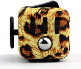 munchkin land Leopard Print Fidget Cube for Kids and Adults (Multicolour)