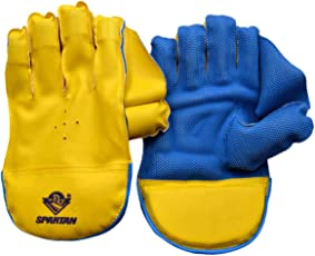 Spartan Yellow- Blue Wicket Keeping Gloves