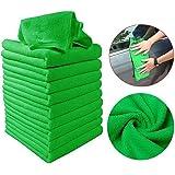 Meihet Auto-Reinigungstuch, Mikrofaser-Reinigungstuch, quadratische Wasseraufnahme, Nicht Fallen Lassen, Auto-Reinigungstuch - 5 Stück/Pack