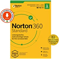 Norton 360 Standard 2020, 1-Gerät, Antivirus, Secure VPN unlimited, Passwort-Manager, PC/Mac/Android/iOS…