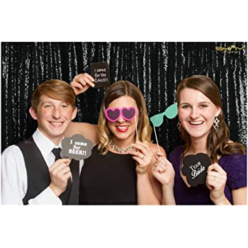 BACKDROP WEDDING Best Choice 5FT*6FT Silver Sequin Backdrop