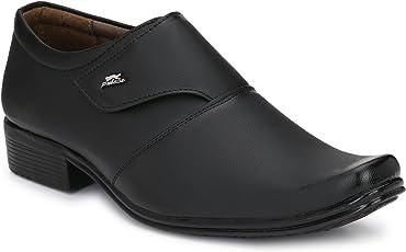 Fashion World Men's Faux Leather Black Formal Shoes (1031)/ Best Office Shoes