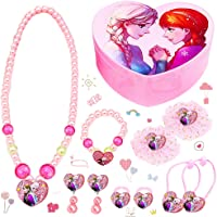 LMZZ Disney Frozen Set di gioielli 11pcs Regina ghiaccio Gioielli (1pcs collana+1pcs Braccialetto+2pcs orecchino+2pcs…