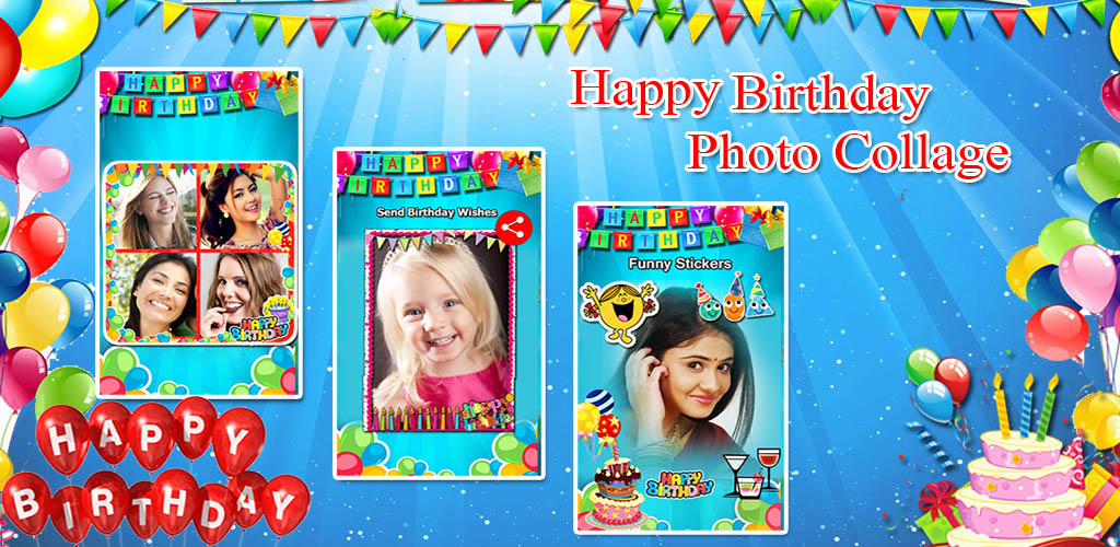 Happy Birthday Collage Maker Photo Editor Amazonde Apps Fur Android