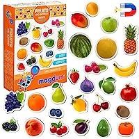 Magnet frigo Enfant MAGDUM Fruit Enfant- 25 Magnet Enfant - Frigo Jouet - Frigo Enfant Jouet - Aimant frigo Enfant…
