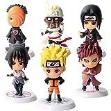 Yisscen Acción Juguetes Modelo Muñecas Mini Muñeca de Naruto Niños Mini Juguetes Decoraciones Pastel Suministros de Decoració
