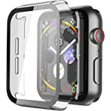 Piuellia Transparent Hard Case for Apple Watch SE/Series 6 / Series 5 / Series 4 44mm, iWatch Screen Protector PC Ultra…