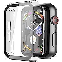 Misxi [2 Pezzi] Trasparente Cover Apple Watch Series 6 / SE/Serie 5 / Series 4 con Vetro Temperato 44mm, Custodia Rigida…