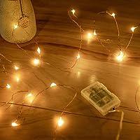 Guirlandes Lumineuses à Piles , 1 Paquet Mini 3*AAA Alimenté par Pile Fil de Cuivre Led Lumières de Luciole pour Chambre…