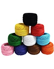 iCraft RN021_PK10 Crochet Cotton Thread Yarn for Knitting and Craft Making (Multicolor, Pack of 10)