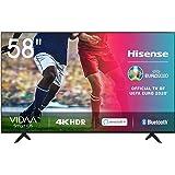 Hisense 58AE7000F - Smart TV Resolución 4K, UHD TV 2020, con Alexa integrada, Precision Colour, escalado UHD con IA, Ultra Di