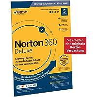 Norton 360 Deluxe 2020, 5-Geräte, 1-Jahres-Abonnement mit Automatischer Verlängerung, Secure VPN und Passwort-Manager…