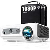 Vidéoprojecteur 4k WiFi Full HD 1080P, 8500LM TOPTRO Rétroprojecteur Bluetooth portable, Projecteur Compatible iPhone…