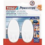 tesa Powerstrips Hooks Large OVAL wit, 3 x 12 x cm