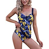 Irevial Tankini Costume da Bagno Donna Due Pezzi Tankini Donna Mare Sexy Estivo, Costumi da Bagno Donna Push up, Canottiera +