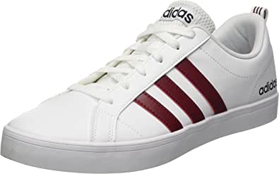 adidas Men's VS PACE Gymnastics Shoe, FTWR White/Collegiate Burgundy/Legend Ink, 10 UK