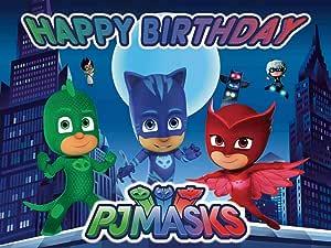 Pj Masks Hintergrund Super City Themed Fotografie Hero Für Baby Jungen Happy Birthday Party Dekoration Dessert