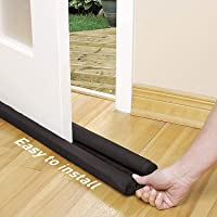 H World Door Closer Bottom Sealing Strip for Energy Saving, Noise Cancellation and Cooling Saver (Brown)