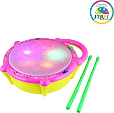 Smiles Creation Flash Drum with Light and Music Toy