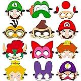 HHQ Máscara de Super Mario Máscara de Decoración Mario Bros Fiesta Máscaras Super Mario Máscaras de Fiesta de Cumpleaños Mari
